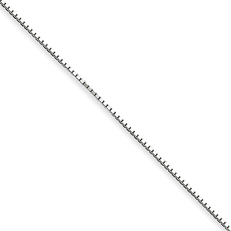 Sterling Silver 8in Box Chain 1.10mm Bracelet