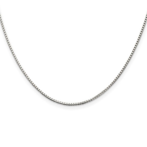 Sterling Silver 24in Box Chain 1.25mm