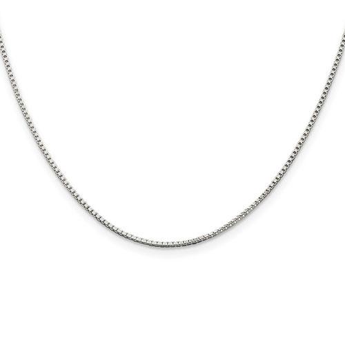 1.25mm Box Bracelet 7in - Sterling Silver