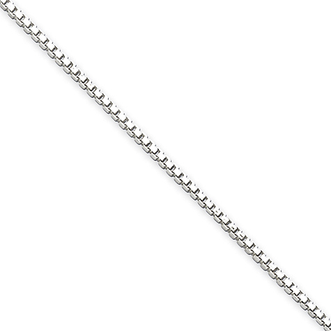 Sterling Silver 7in Box Chain 1.4mm