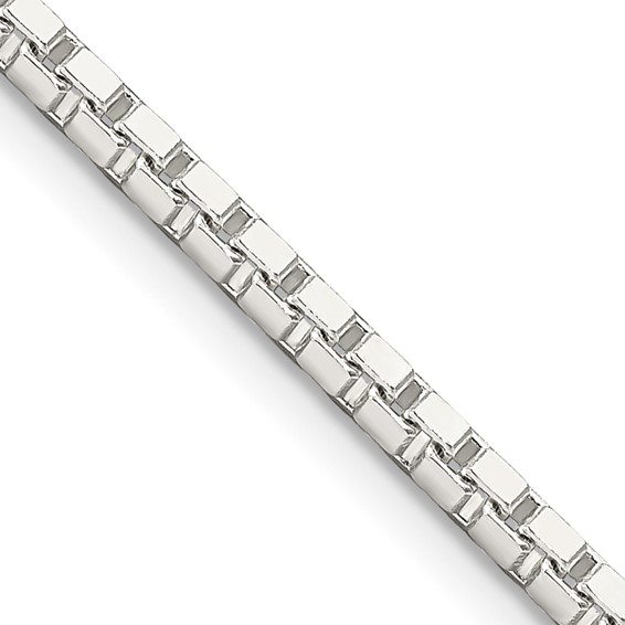 24in Box Chain 2.5mm - Sterling Silver
