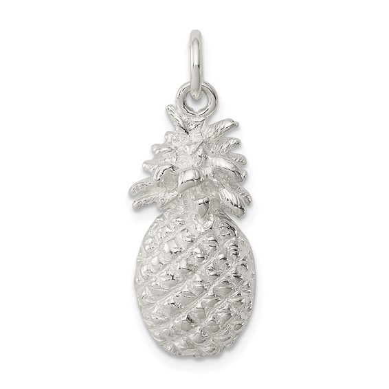 Sterling Silver Pineapple Charm 3/4in