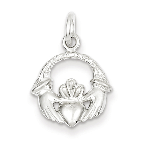 Sterling Silver 1/2in Claddagh Charm