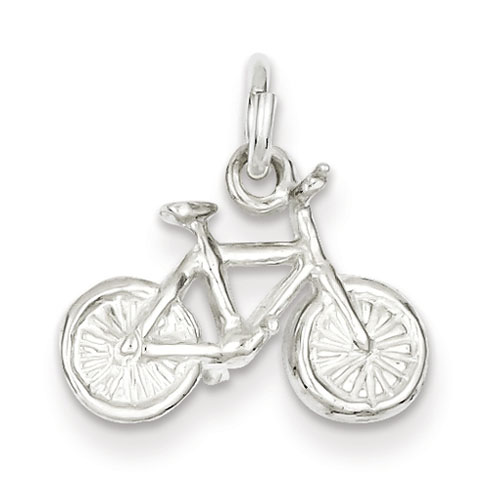 Sterling Silver 1/2in Bicycle Charm