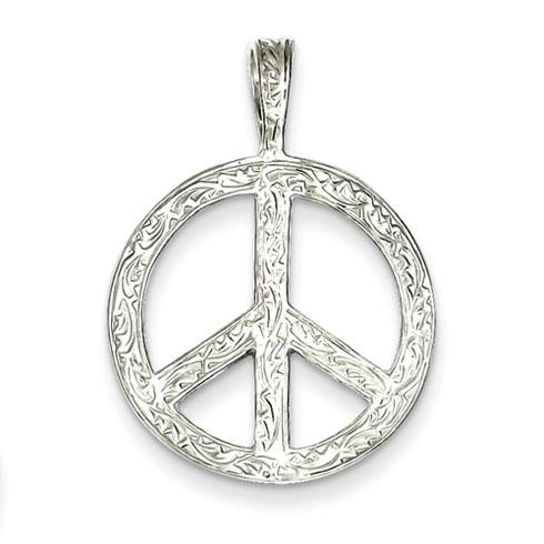 Sterling Silver Peace Pendant