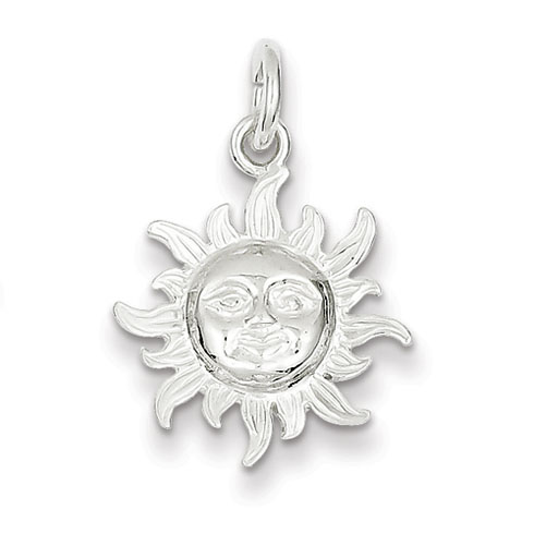 Sterling Silver 5/8in Sun Charm