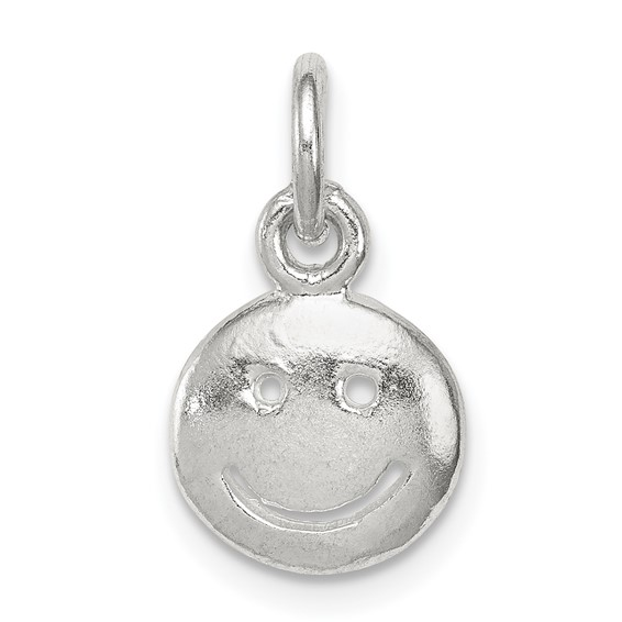 Sterling Silver Smiley Face Charm