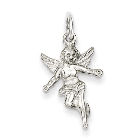 Angel Charm 11/16in - Sterling Silver