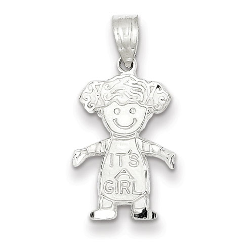 Sterling Silver It's A Girl Charm