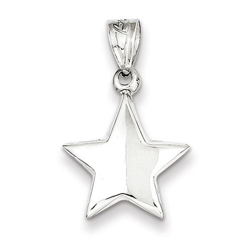 1/2in Star Charm - Sterling Silver