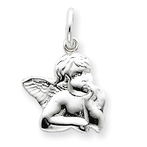 Angel Charm 1/2in - Sterling Silver