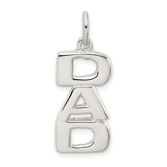 Sterling Silver 3/4in DAD Charm