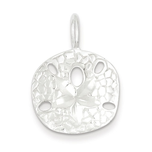 Sterling Silver 3/4in Sand Dollar Charm