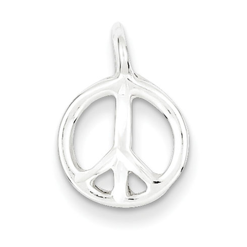Sterling Silver Peace Charm 7/16in