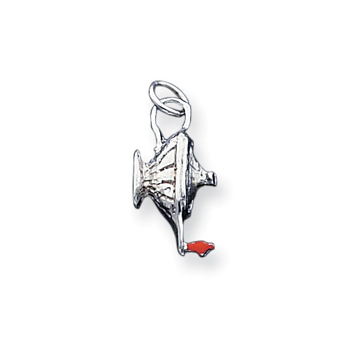 Sterling Silver 3/4in Lamp of Knowledge Charm