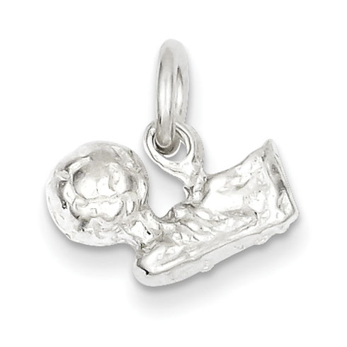 Sterling Silver Soccer Ball & Shoe Charm