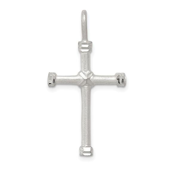 1in Cross Pendant - Sterling Silver