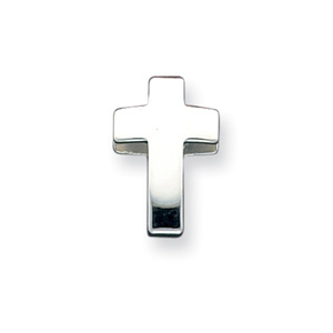11/16in Cross Charm - Sterling Silver