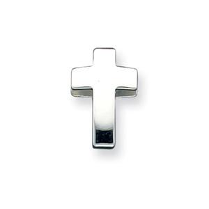 Sterling Silver Latin Cross Pendant Slide 11/16in