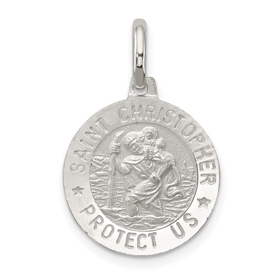 Sterling Silver 9/16in St. Christopher Charm