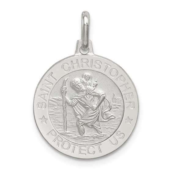 Sterling Silver 11/16in St. Christopher Medal