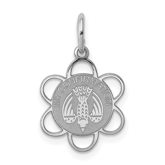 Sterling Silver 1/2in My Confirmation Charm