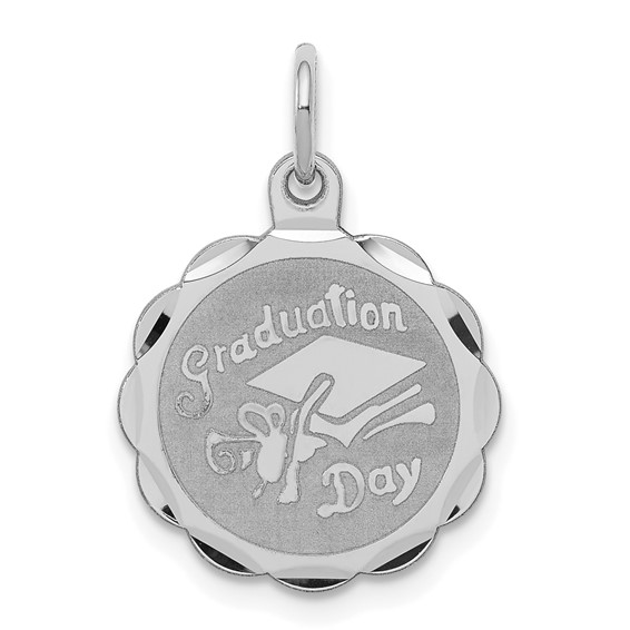 Sterling Silver 1/2in Graduation Day Disc Charm