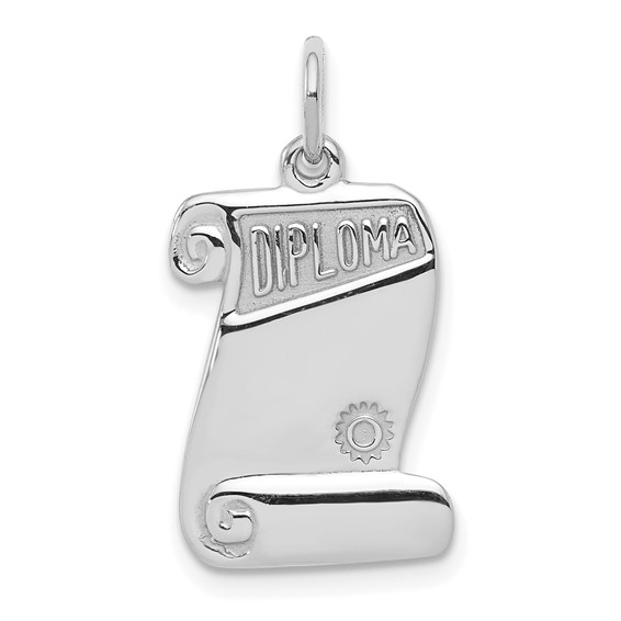 Sterling Silver 5/8in Diploma Charm