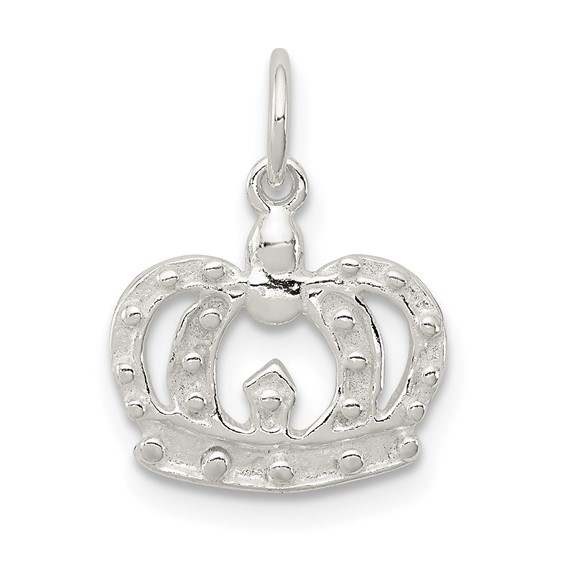 Sterling Silver Small Crown Charm