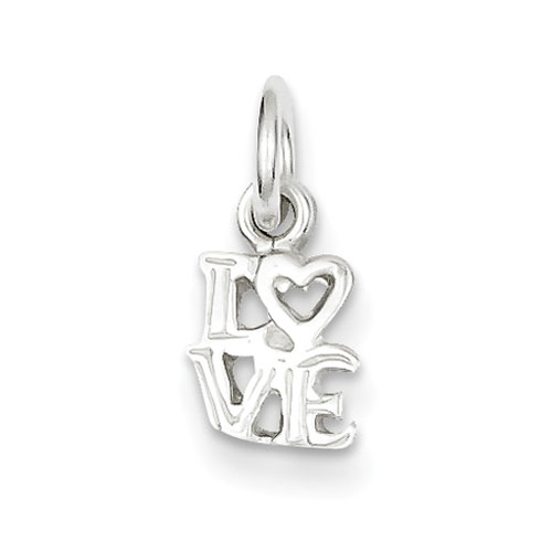 Sterling Silver 1/4in Love Charm