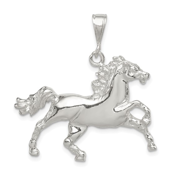Sterling Silver 15/16in Galloping Horse Charm