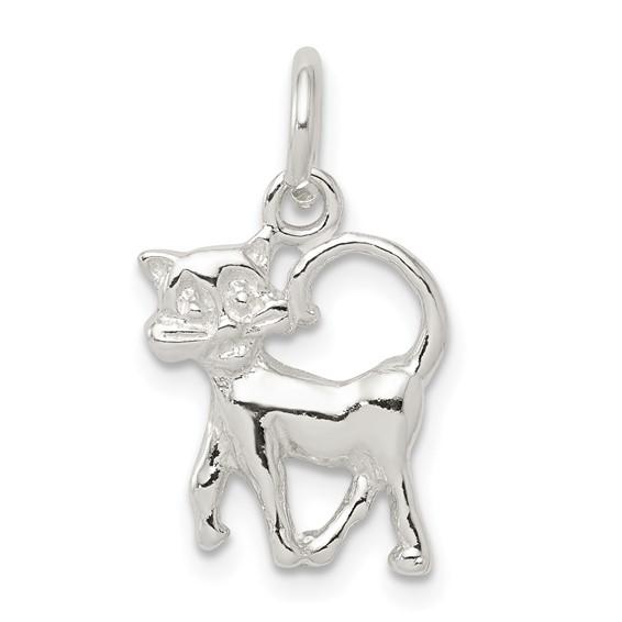 Sterling Silver Walking Cat Charm