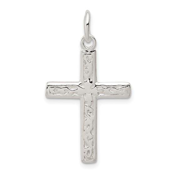 1 1/16in Cross - Sterling Silver