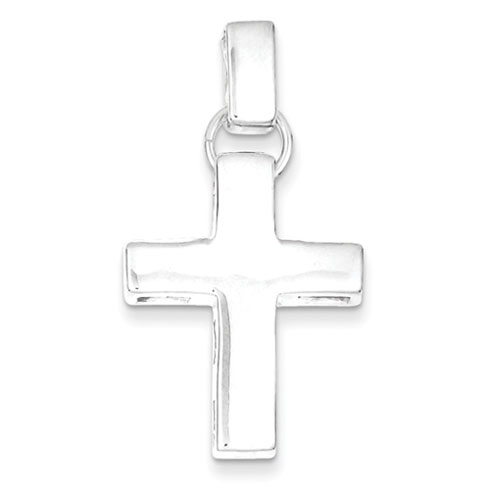 Sterling Silver 1in Modern Squared Cross