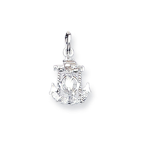 Sterling Silver 1/2in Mariner's Cross Charm