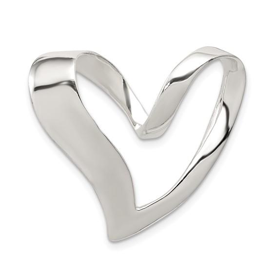 Sterling Silver 1in Heart Slide
