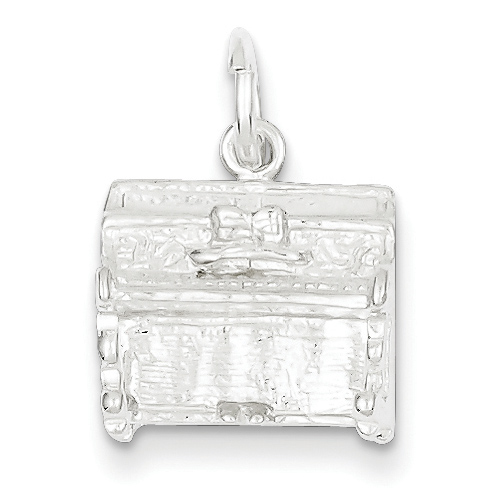 Sterling Silver 3-D Piano Charm