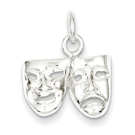 Mini Sterling Silver Comedy Tragedy Charm