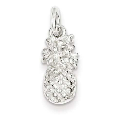 Sterling Silver Pineapple Charm 1/2in