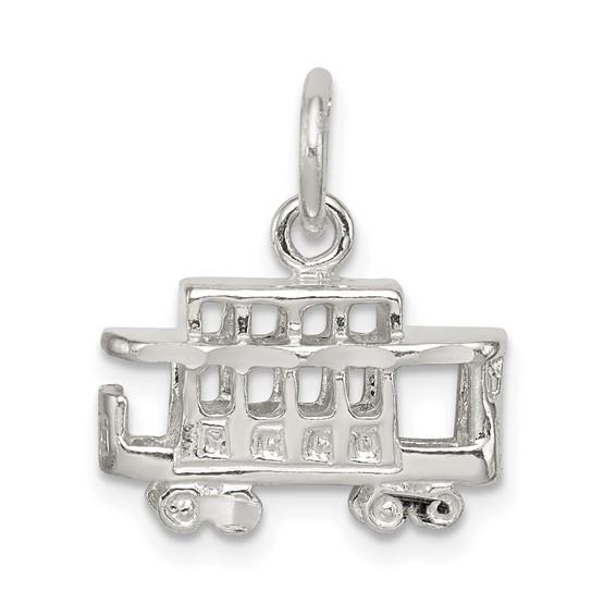 Sterling Silver Streetcar Charm
