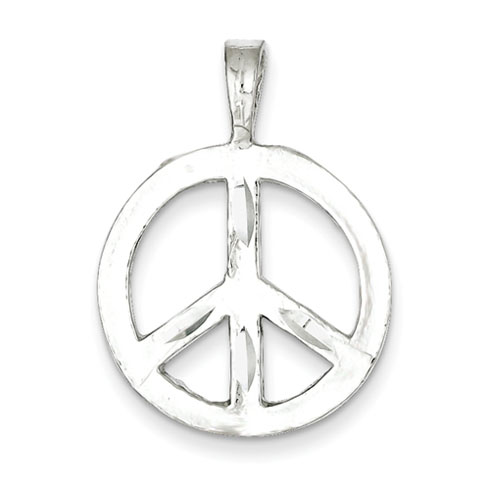 3/4in Sterling Silver Peace Symbol Charm