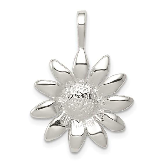 Sterling Silver Sunflower Pendant