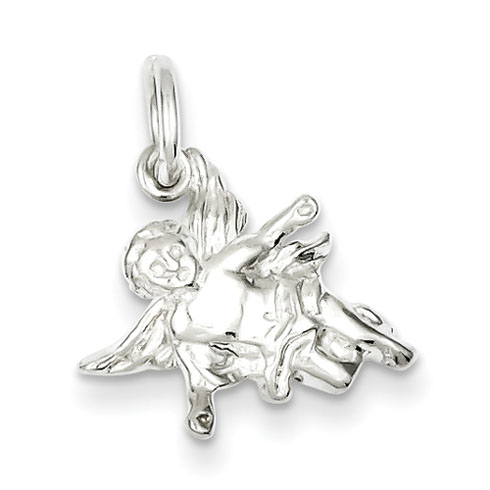 Angel Charm 7/16in - Sterling Silver