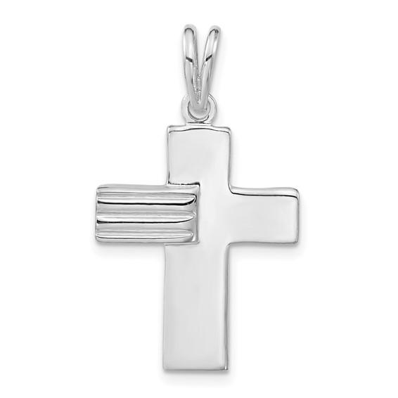 7/8in Cross Pendant - Sterling Silver