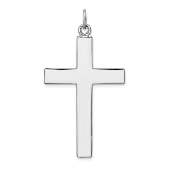 Sterling Silver 1 1/2in Lord's Prayer Cross