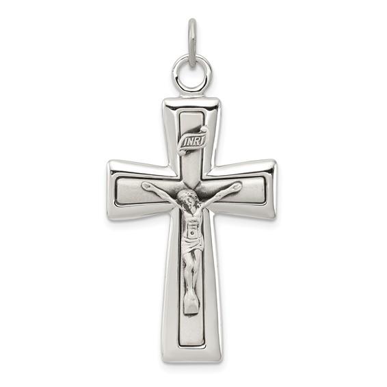 1 1/2in INRI Crucifix - Sterling Silver