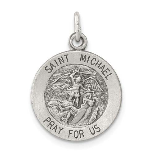 Sterling Silver St. Michael Charm 1/2in