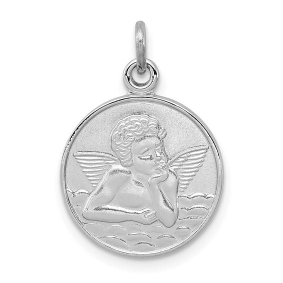 Sterling Silver 1/2in Guardian Angel Medal