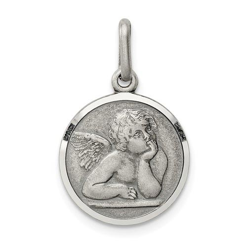 Sterling Silver 1/2in Raphael Angel Charm