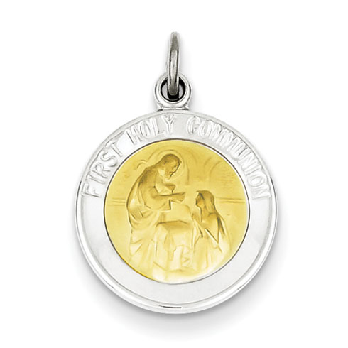 Gold-plated Sterling Silver 1/2in Holy Communion Medal